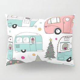 Retro Christmas Campers Pillow Sham