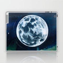 Full Moon Mixed Media Painting Laptop & iPad Skin
