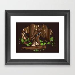 The Bigfoot of Endor Framed Art Print