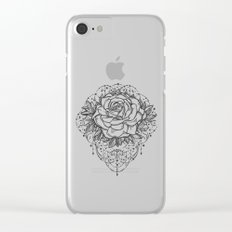 Night Rose Clear iPhone Case