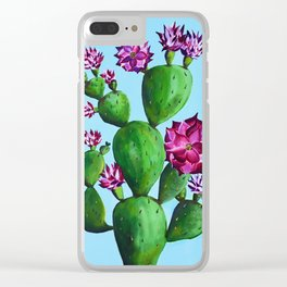 A Blooming Cactus in Austin Clear iPhone Case