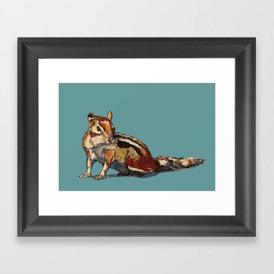 Chipmunk For You Framed Art Print