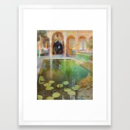 The Court of the Myrtles Framed Art Print