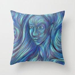frozen fire Throw Pillow