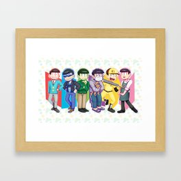 NEET parade casual outfits Framed Art Print