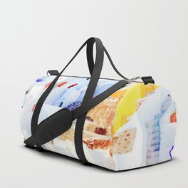 Aegean Island with Colorful Houses Duffle Bag