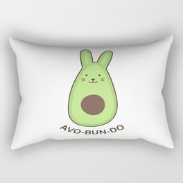 Avobundo (Avocado Bunny) Rectangular Pillow