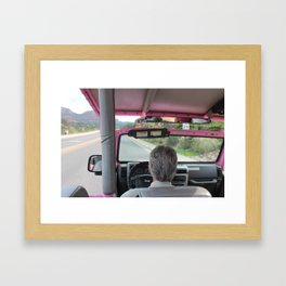Pink Jeep Framed Art Print
