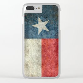 Texas flag Clear iPhone Case