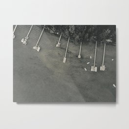 Dock From Above Metal Print