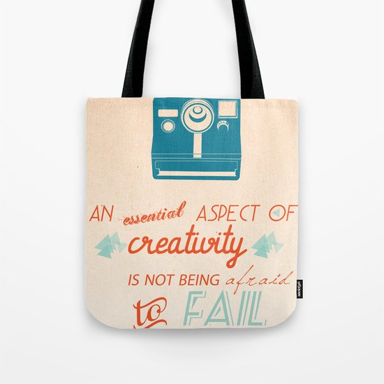Creativity Inspirational Quote Tote Bag