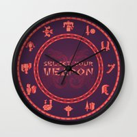 monster hunter Wall Clocks featuring Monster Hunter: Select Your Weapon by KEITHXIII