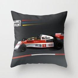 James Hunt McLaren F1    Car   Automotive   Formula One Throw Pillow