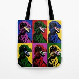 Dinosaur Pop Art Tote Bag