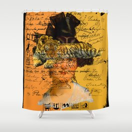 GENTLEWOMAN FACE WITH SLEEPING TIGER II Shower Curtain