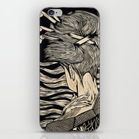geisha iPhone & iPod Skins featuring Geisha by Mario Sayavedra