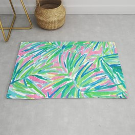 Lily inspired pastel Rug