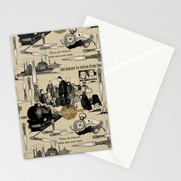 Murder on the Orient Express (Agatha Christie) Toile de Jouy Stationery Cards