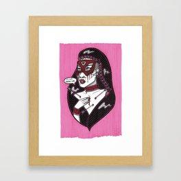 Eu Nao Quero Mais Framed Art Print