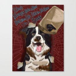 Dog Gone Dirty Canvas Print