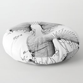 Slinky Patent - Slinky Toy Art - Black And White Floor Pillow