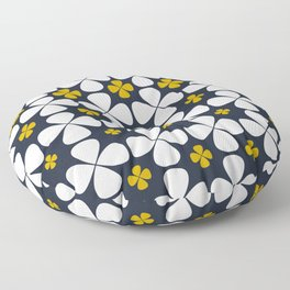 At home: geometric flowers, 70th Lifestyle Floor Pillow