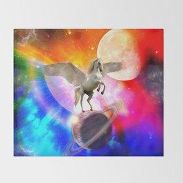 space unicorn. Throw Blanket