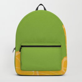 Green Background and Orange Slices Backpack