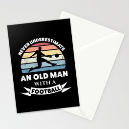 Old Man with a Football Funny Gift Dad Stationery Cards