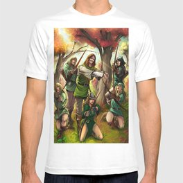 Robin Hood and his Merry Women T-shirt