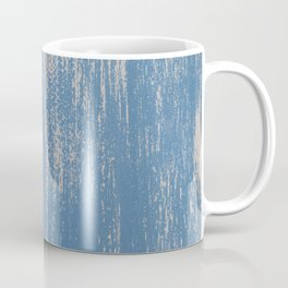 White on Blue Painted Wall Texture Coffee Mug