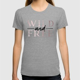 Wild and Free Waves in Rose Gold T-shirt
