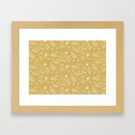 Christmas Dove Beige Framed Art Print