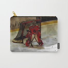 Life Goals - Ice Hockey Goalie Motivational Art Carry-All Pouch