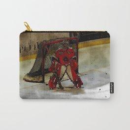 Life Goals - Ice Hockey Goalie Motivational Art Carry-All Pouch