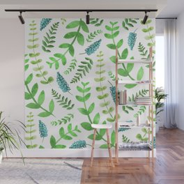 Greenery Leaves Pattern Wall Mural