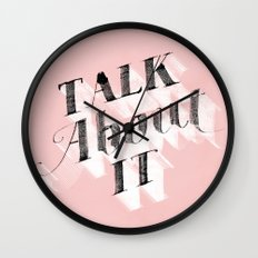Talk about it Wall Clock