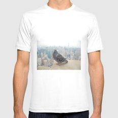 New York Pigeons White MEDIUM Mens Fitted Tee