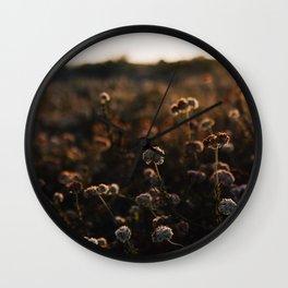 Sunset Florals Wall Clock