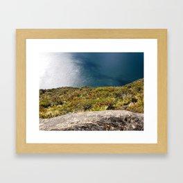 Up High Lake Waikaremoana NZ Framed Art Print