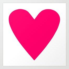 Neon Pink Heart Art Print
