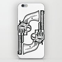 guns iPhone & iPod Skins featuring Guns by Calyx Studio