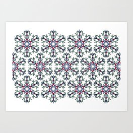 Medallion Traditional 1 repeating Art Print