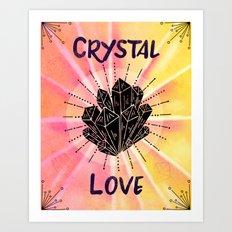 Crystal Love - Boho Crystal Watercolor Art Print