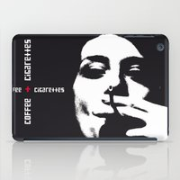 cigarettes iPad Cases featuring coffee + cigarettes by Jay Hops :: www.jayhops.de