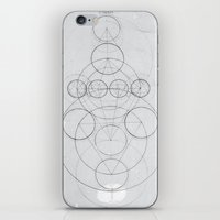 occult iPhone & iPod Skins featuring Occult Geometry Print by poindexterity