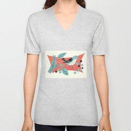 Blue Berry Bird Unisex V-Neck