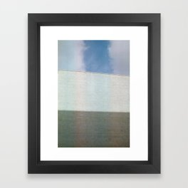 Shadow, Wall, Sky Framed Art Print