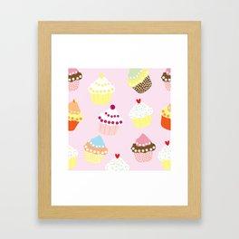 I Love Cupcakes Framed Art Print