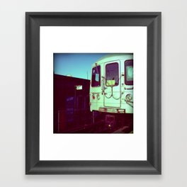 Subway A train in Queens - NYC Framed Art Print